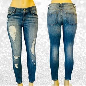 Express Jeans Distressed Skinny Jeans